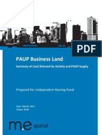 081a Ak Cncl - General - PAUP Business Land - Summary of Land Demand by Activitiy and PAUP Supply - Summary Results