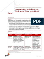 Pwc News Alert 20 February 2016 Indian Government Puts Limit on Early Withdrawal From Provident Fund