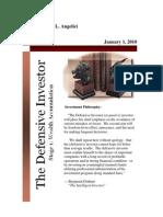 Defensive Investor Newsletter (January 1, 2010)