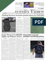 The University Times - April 27, 2010