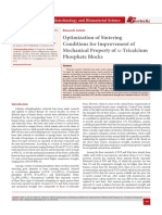Optimization of Sintering Conditions for Improvement of Mechanical Property of a-Tricalcium Phosphate Blocks