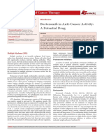 Bortezomib in Anti-Cancer Activity