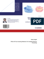 Effect of different investing medium on the movement of artificial teeth E-BOOK