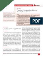 Transient Hypoparathyroidism in Diabetic Ketoacidosis