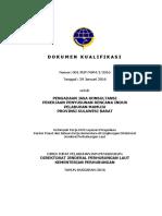 16. Dokumen Kualifikasi Studi Rencana Induk Pelabuhan Mamuju Ta 2016