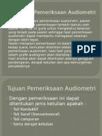 Persiapan Pemeriksaan Audiometri