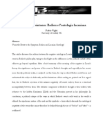 Badiou e l'Ontologia Lacaniana