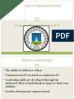 Leadership in Customer Service