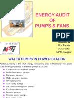 Energy Audit of Pumps & Fans