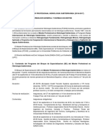V Máster Profesional en Hidrología Subterránea - Información General y Normas Docentes