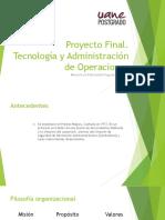 Presentacion Tecnologia y Administracion de Operaciones