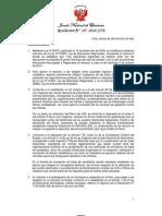 Reglamento de Inscripción de Listas de Candidatos para las Elecciones Municipales y Regionales 2010