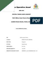 Plan Operativo Anual 2015