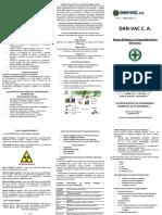 Triptico DAN-VAC C. a. - Riesgo Biológico y La Seguridad de Los Alimentos.