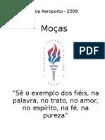 Agenda para organiza€¦ção das  Mo€¦ças 2008 - simples