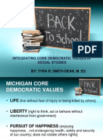 integrating core democratic values in social studies