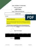 Exam2013 Answers Marking Scheme