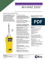 MiniRAE 2000 Datasheet ES
