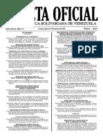 Gaceta Oficial N° 40.871 - Notilogía