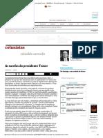 As Tarefas Do Presidente Temer - 18-03-2016 - Reinaldo Azevedo - Colunistas - Folha de S