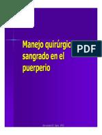 Manejo Quirurgico Del Sangrado en El Puerperio