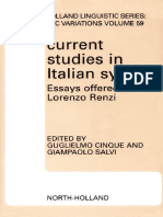 Current Studies in Italian Syntax