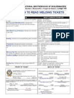 How to Read Your Welding Ticket