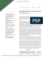 ISO 9001_2008 ¿Por Qué Hacer Análisis de Datos