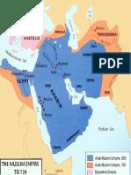 Map - Arab-Muslim Empire to 750 AD