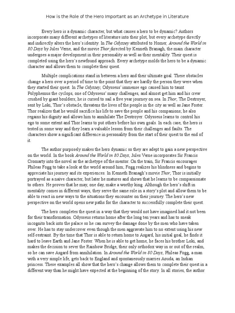 archetype essay odyssey around the world in eighty days