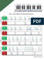 Pray-Justin Bieber PIANO NOTES