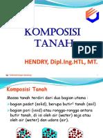 Komposisi Tanah 2010-2011