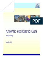 AUTOMATED SKID MOUNTED PLANTS