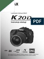 Instrukcja Pentax 20D