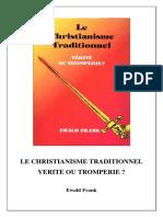 Le Christianisme Traditionnel Verite Ou Tromperie
