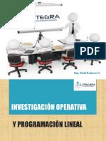 Inv Operativa y Programación Lineal en La Administración