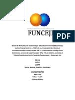 Escrito de Amicus Curiae Funceji Sobre Accion Directa de Inconstitucionalidad a Los Art 108 109 y 110 de La Reforma Al Codigo Penal Mayo 2015 Republica Dominicana