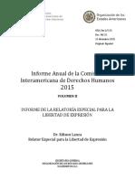 Informe Anual de la Comisión Interamericana de Derechos Humanos OEA 2015