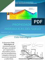 PROPIEDADES HIDRAULICAS DE LOS SUELOS