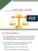 Acid Base Balance Powerpoint