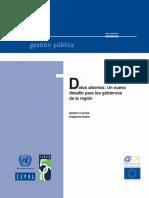 Datos Abiertos - Nuevos Desafios Para La Region