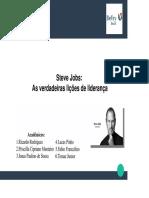Trabalho Steve Jobs (Carreira e Liderança)