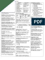 Epidemiology Summary – Weeks 1 to 6