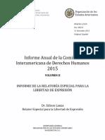 Informe CIDH sobre libertad de expresión (caso Venezuela)