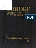 Yurugu-An African Centered Critique of European Cultural Thought and Behavior- by Marimba Ani