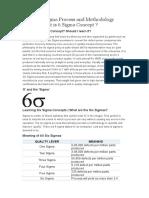 Learn Six Sigma Process and Methodology Basics