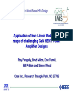App of NonLinear Models for GaN HEMT PA Design