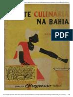 Arte Culinaria Na Bahia