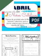 Abril 2016 Boletín de Niños Católicos