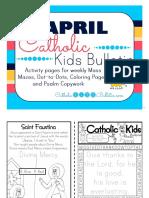 April 2016 Catholic Kids Bulletin